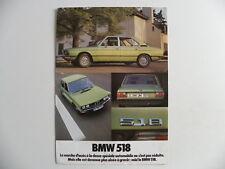 Brochure BMW 518 en français