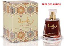 *New* Raghba 100ml by Lattafa Sweet Powdery Woody Musky With Free Deo Inside