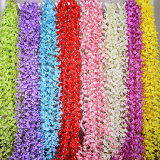 6.5ft Artificial String Wisteria Flowers Vine Ivy Garland Wall Floral Wedding