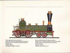 VINTAGE RAILWAY GERMAN TRAIN ENGINES PRINT ~ WURTTEMBERGISCHE STAATSEISENBAHNEN