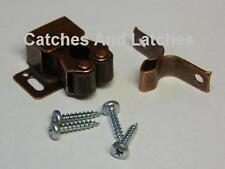 1 x Twin Roller Spring Catch Steel Bronzed Cupboards Plinths Caravans FREE P&P