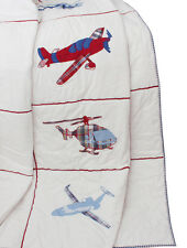 Aeroplanes Helicopters Aviation Kids Boys Mens Double Bedding Quilt by Babyface