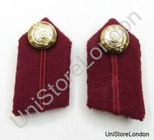 Gorget Collar Staff Gorget Patches Maroon  L2'' R866