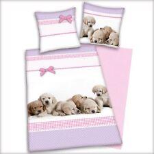 Parures et housses de couette rose en 100% coton, 200 cm x 200 cm