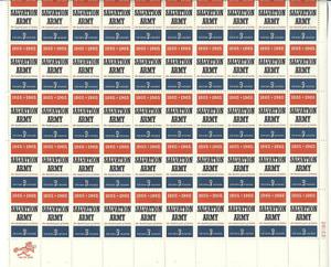 Scott #1267...5 Cent.....Salvation Army... Sheet of 50
