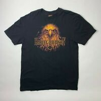 Harley Davidson Mens Large Graphic T Shirt Short Sleeve Black Eagle Tifton