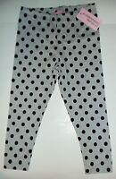 Baby Girl Light Grey Leggings with Black Spots detail