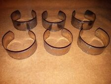 """Silver plated napkin ring holders - pattern engraved and with """"G"""" - Set of 6"""