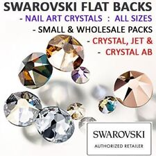 Genuine Swarovski® Flat Back Crystals Rhinestones Gems NAIL ART Crystal & AB