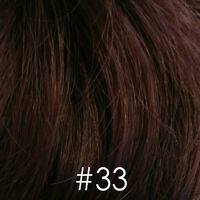 Long Red Auburn Straight Wig/Wigs w/ Monofilament top - 100% Kanekalon Fiber