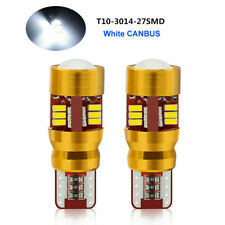 2Pcs White Canbus Error Free T10 W5W 3014 27 SMD LED Light Bulbs Lamp High Power