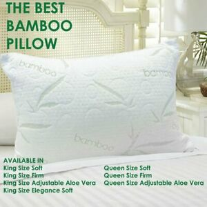 The Best Bamboo Pillow  (Queen-Firm)