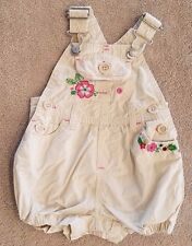 CLEARANCE!! BABY GAP 3-6 MONTH TAN FLORAL SHORTALLS