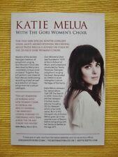 KATIE MELUA - With the Gori Women's Choir. - A5 FLYER - UK TOUR 2016
