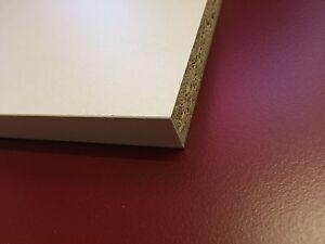15mm White Melamine Faced Chipboard wood shelving Board 1200mm Length