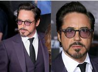😎Robert Downey Jr Johnny Depp Round Sunglasses Oculus De Sol Brand Design Tint