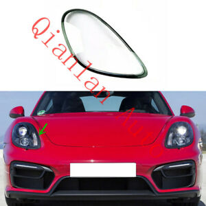 Right Side Lucency Headlight Cover + Glue For Porsche 718 Cayman Boxster 2012-15