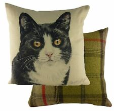"Cushion Covers Waggydogz Black/White Cat Cushion Cover 17""  24979"