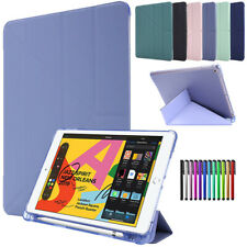 "Leather Smart Cover Case Fr iPad 10.2"" 7th 6th 5th Gen Pro 11 12.9 2020 Mini 4 5"