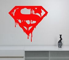 Superman Logo Vinyl Decal Wall Sticker Superhero Art Bedroom Office Decor sup7
