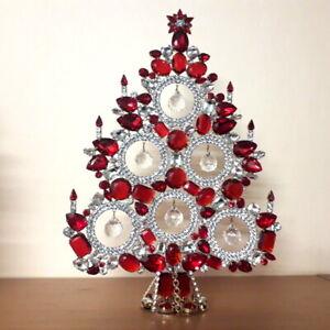 -15% - Czech handmade Rhinestones Christmas tree decoration