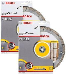 "2 Bosch 230mm / 9"" Diamond Cutting Discs High Speed Professional for Universal"