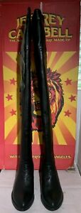 Womens JEFFREY CAMPBELL Backside black Backless thigh high boots-Size 7