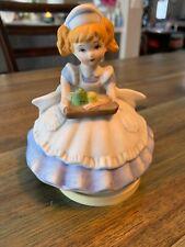 "Vintage Porcelain figurine - Nurse - Hero - Plays ""Just a Spoonful of Sugar"""
