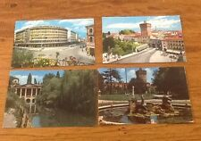 VINTAGE VICENZA ITALY POSTCARDS LOT OF 4