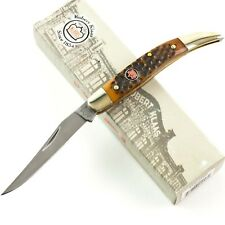 Kissing Crane Robert Klaas Autumn Brown Bone Texas TOOTHPICK Knife 6115BR