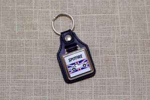 Triumph Spitfire Keyring - Leatherette & Chrome Keyfob