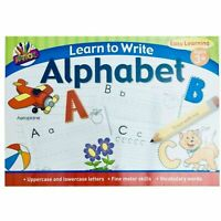 A4 Kids Learn to Write Alphabet Handwriting Practice Book Pad Pre School Infants