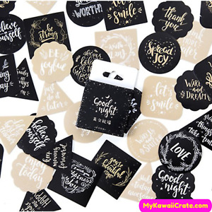 Elegant Motivational Phrases Stickers ~ Self Love Positive Quotes Stickers Set