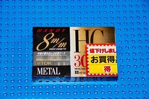 TDK HANDY 8MM METAL HG30  VIDEOCASSETTE TAPE (1) SEALED