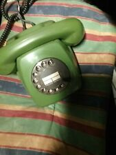 Antikes Telefon mit Wählscheibe, oliv- grün, Deutsche Post, Rar