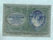 Nr-38586 Österreich Geldschein  100000  Kronen  1922