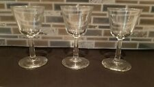 Lot of 3 Vintage Small Sherry / Shot / Liquor-Liqueur Cocktail / Cordial Glasses
