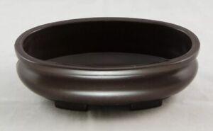 """Oval Heavy Duty Bonsai Succulent Flower Pot Bowl Planter Decor 8""""x5.5""""x3"""" Brown"""