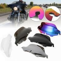 "6""/8"" Wave Windshield Windscreen For Harley Touring Street Glide FLHT 1996-13"