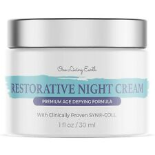 Restorative Night Cream for FaceClinically ProvenCollagen Free Ship!