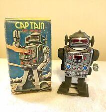 Vintage Wind Up Captain Robot W/Box