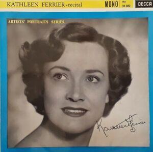 "Kathleen Ferrier-Recital 10"" Single.Artists Portraits Series.Decca BR 3052.Folk."