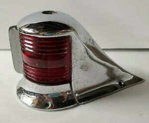 Vintage Boat Bow Navigation Light Red Green UNTESTED Or Use For Decor  - GL298