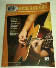 ACOUSTIC ROCK CLASSICS PLAY ALONG GUITAR TAB SONGBOOK TABLATURE NEW WITH CD