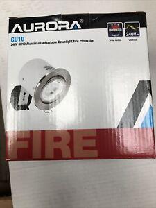 Aurora Downlight Fire Acoustic Rated AU-DLM982 White Adjustable Tilt GU10