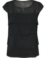 S Oliver Black Label ~ Shirt in schwarz Punkte *K46* ~ NEU Gr 42 XL  1474J