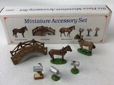 Liberty Falls Hand Painted Pewter Collection Horses Bridge 5 Pewter Figures Ah51
