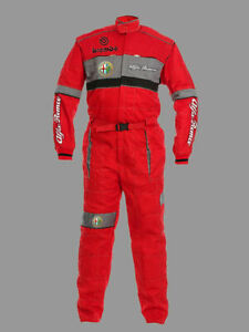 Mans Alfa Romeo Motorsport Coverall, Workwear, Work Overalls Embroidered Emblems