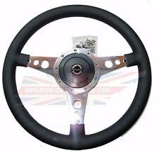 "New 15"" Moto Lita Leather Steering Wheel & Hub Adaptor Sunbeam Alpine Tiger"