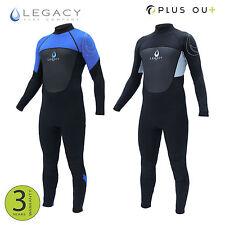 Legacy 3/2mm Mens Full Wetsuit Surf Steamer Swim Long Wet Suit Kayak S-XXL